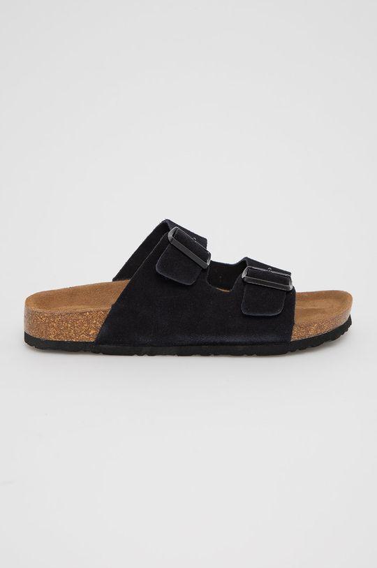 černá Medicine - Semišové pantofle Summer Linen Dámský