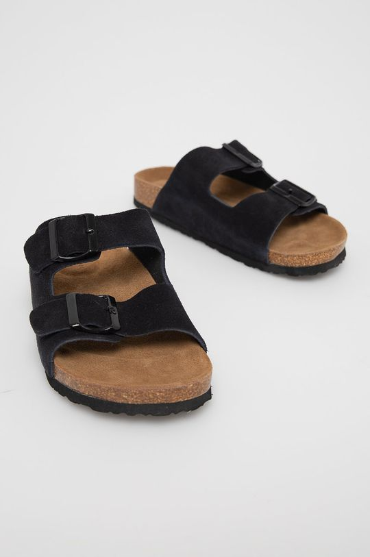 Medicine - Semišové pantofle Summer Linen černá