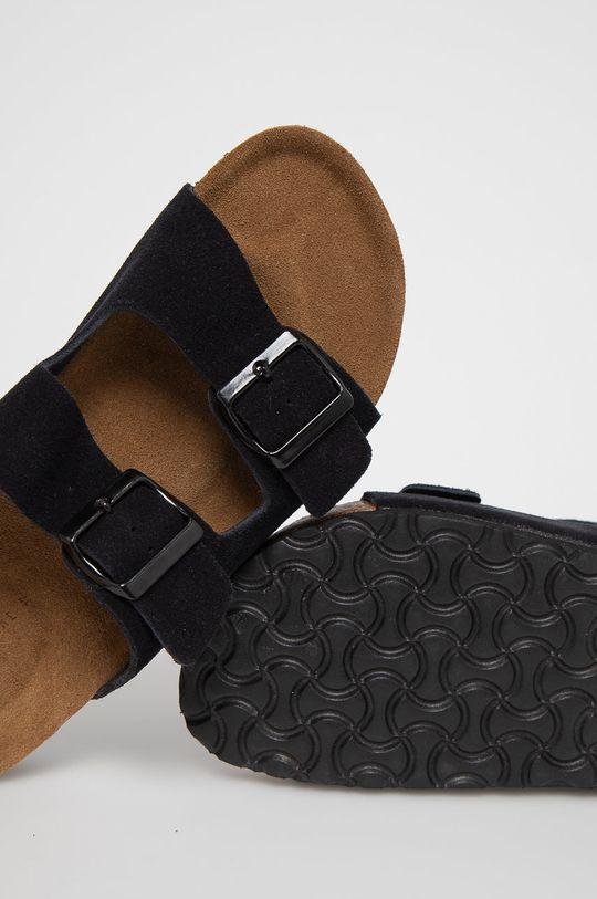 černá Medicine - Semišové pantofle Summer Linen
