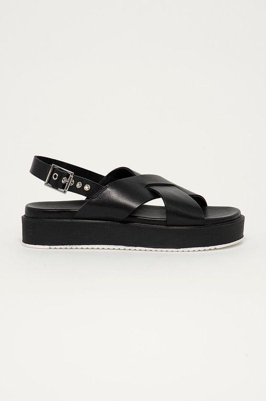 černá Medicine - Kožené sandály Summer Linen Dámský
