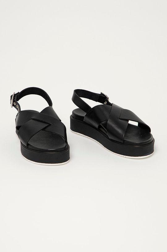 Medicine - Kožené sandály Summer Linen černá