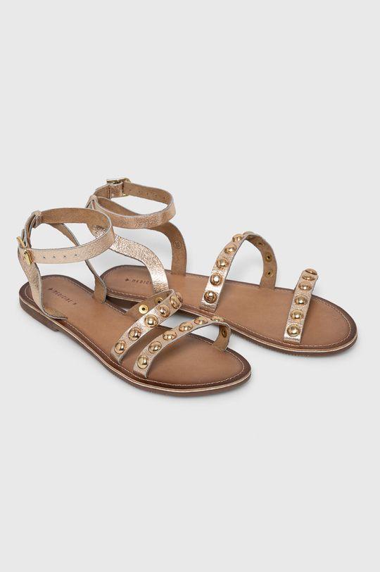 Medicine - Kožené sandály Essential zlatá