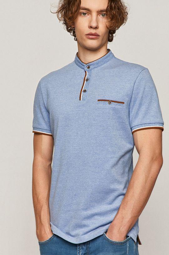 albastru deschis Medicine - Tricou Polo Comfort Classic De bărbați