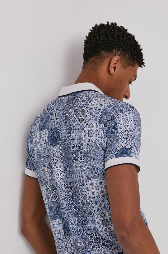 modrá Medicine - Polo tričko Modern Africa Pánsky