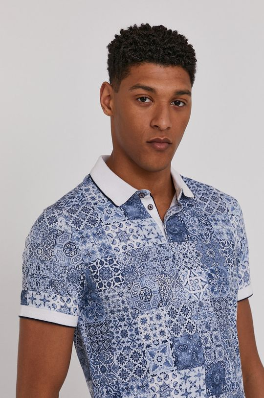 modrá Medicine - Polo tričko Modern Africa