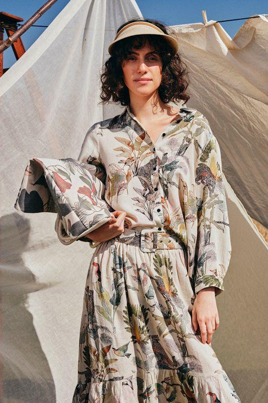 Medicine - Spódnica Summer Linen kremowy