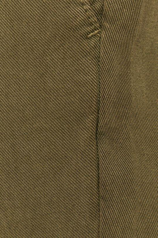 tlumená zelená Medicine - Kalhoty Basic