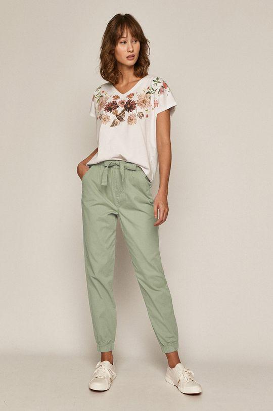 Medicine - Pantaloni Basic verde metalizat