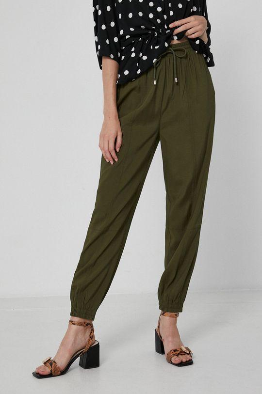 tlumená zelená Medicine - Kalhoty Essential Dámský