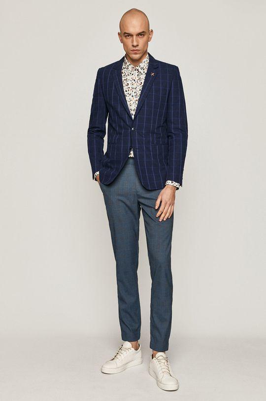 Medicine - Pantaloni Casual Elegance albastru metalizat