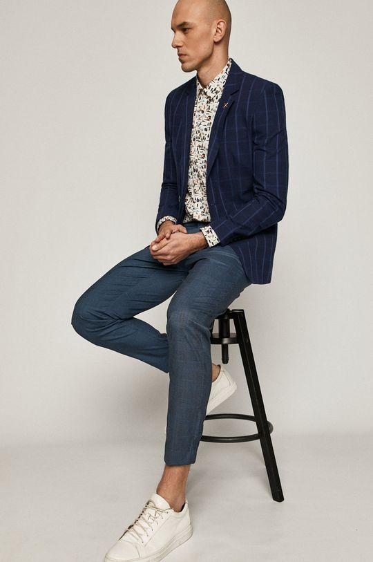 albastru metalizat Medicine - Pantaloni Casual Elegance