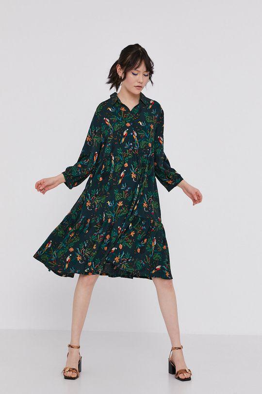 Medicine - Šaty Commercial tmavě zelená