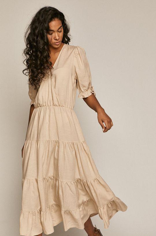 Medicine - Sukienka Summer Linen cielisty