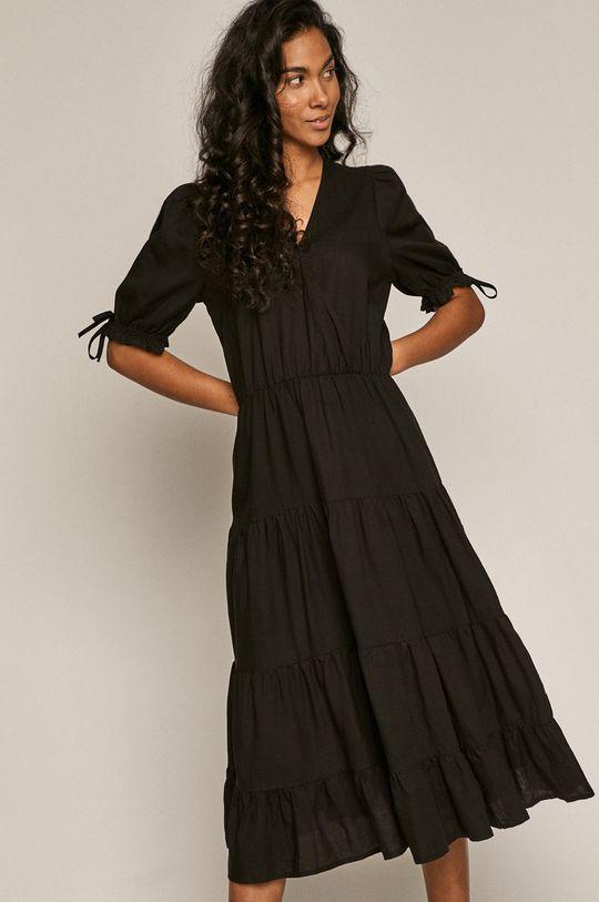 černá Medicine - Šaty Summer Linen Dámský
