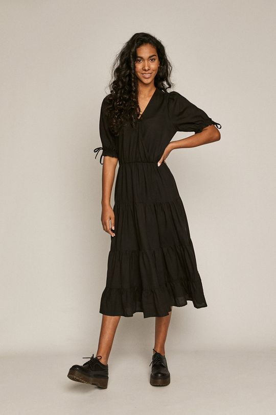 Medicine - Šaty Summer Linen černá