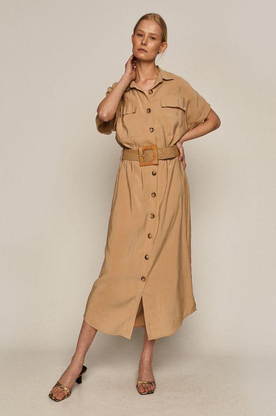 piaskowy Medicine - Sukienka Summer Linen Damski