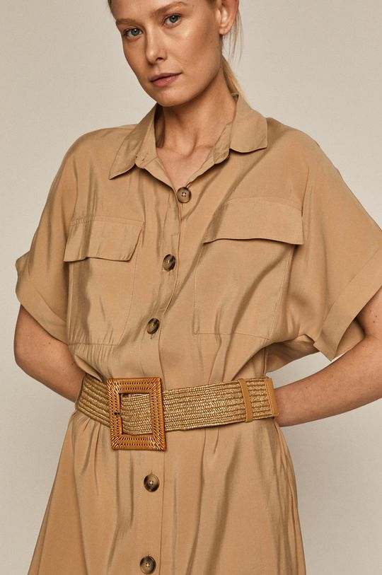 piaskowy Medicine - Sukienka Summer Linen