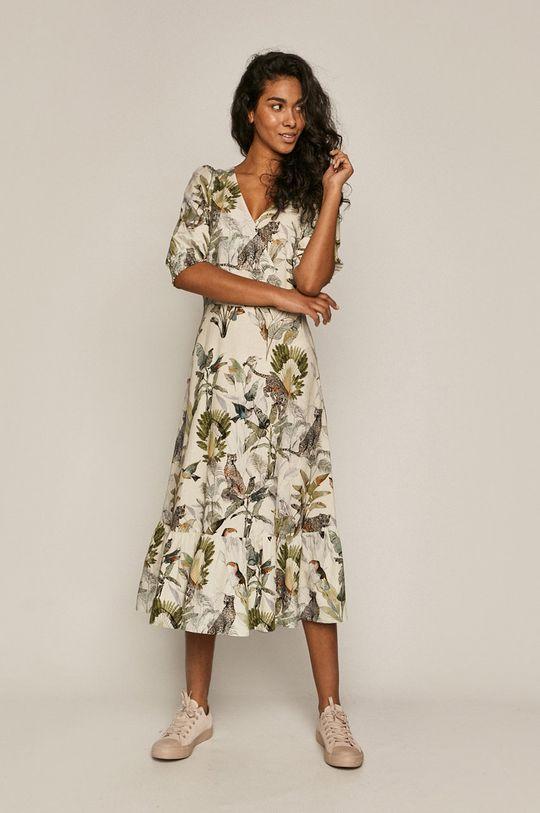 kremowy Medicine - Sukienka Summer Linen Damski