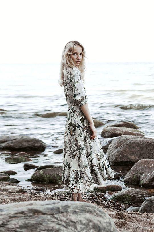 Medicine - Sukienka Summer Linen kremowy