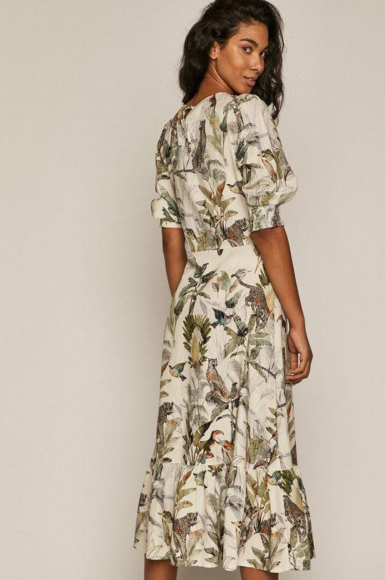 kremowy Medicine - Sukienka Summer Linen