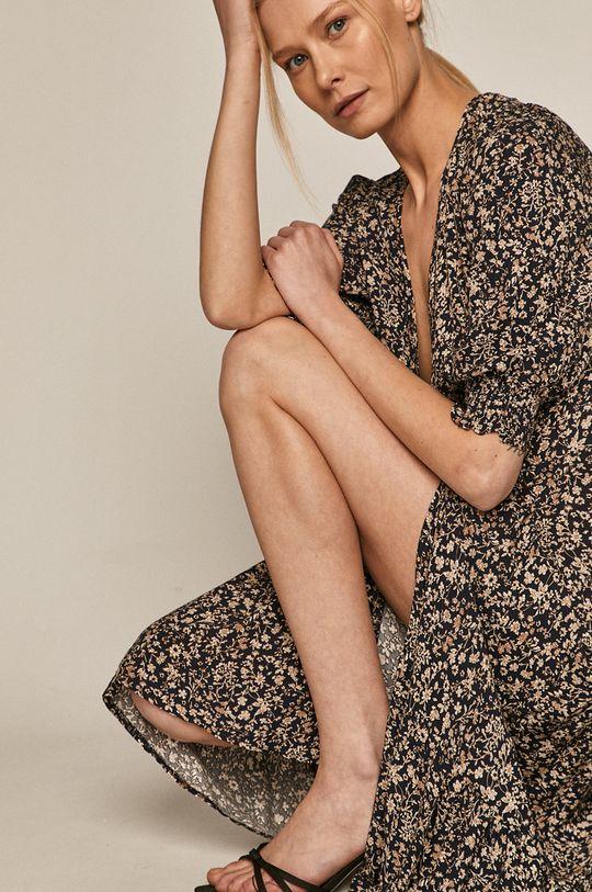 granatowy Medicine - Sukienka Summer Linen Damski