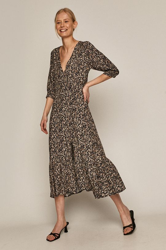 Medicine - Sukienka Summer Linen granatowy