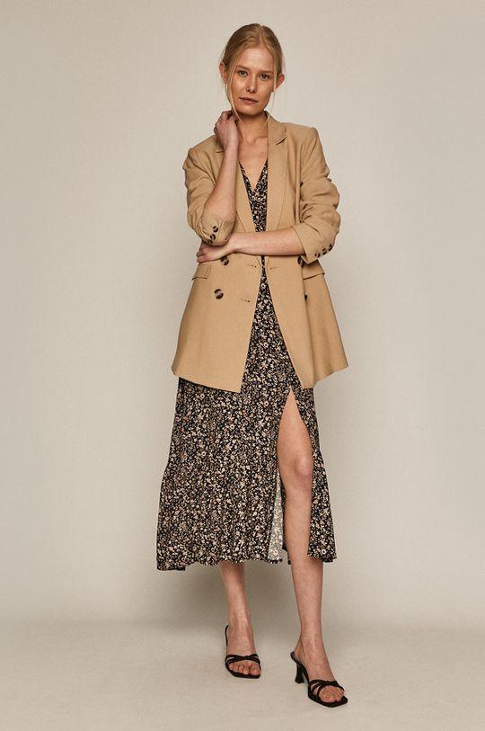 granatowy Medicine - Sukienka Summer Linen