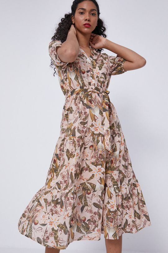 piaskowy Medicine - Sukienka Tropical Chaos Damski