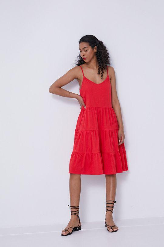 czerwony Medicine - Sukienka Essential Damski
