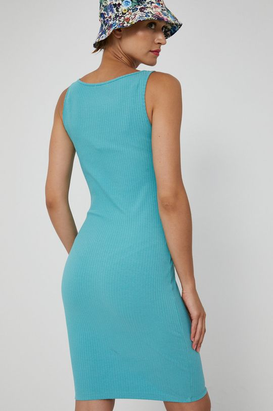 Medicine - Sukienka Essential <p>Sukienka szara: 85% Bawełna organiczna, 10% Wiskoza, 5% Elastan  Sukienka czarna/ turkusowa: 95% Bawełna organiczna, 5% Elastan</p>