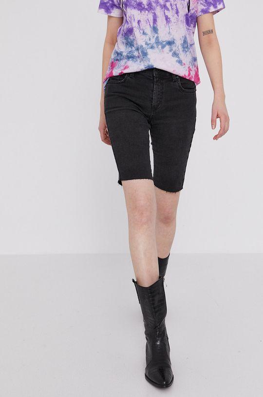 čierna Medicine - Rifľové krátke nohavice Denim