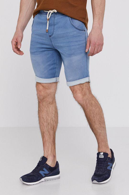 svetlomodrá Medicine - Rifľové krátke nohavice Basic Pánsky