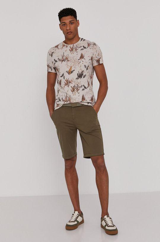 verde maro Medicine - Pantaloni scurti Basic De bărbați