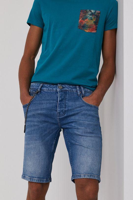 modrá Medicine - Rifľové krátke nohavice Summer Vibes Pánsky