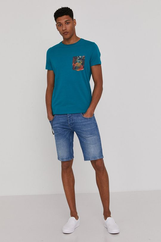 Medicine - Rifľové krátke nohavice Summer Vibes modrá