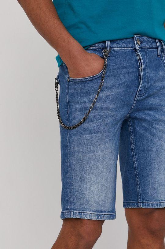 modrá Medicine - Rifľové krátke nohavice Summer Vibes