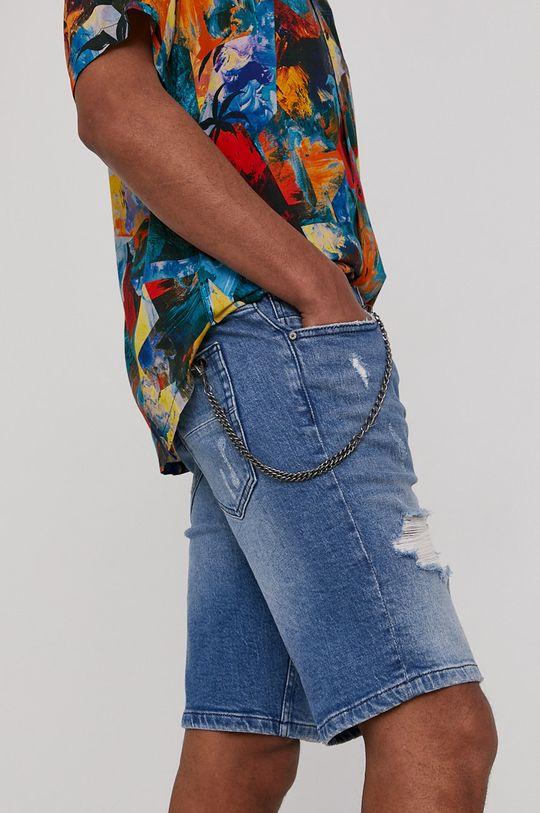 svetlomodrá Medicine - Rifľové krátke nohavice Summer Vibes Pánsky