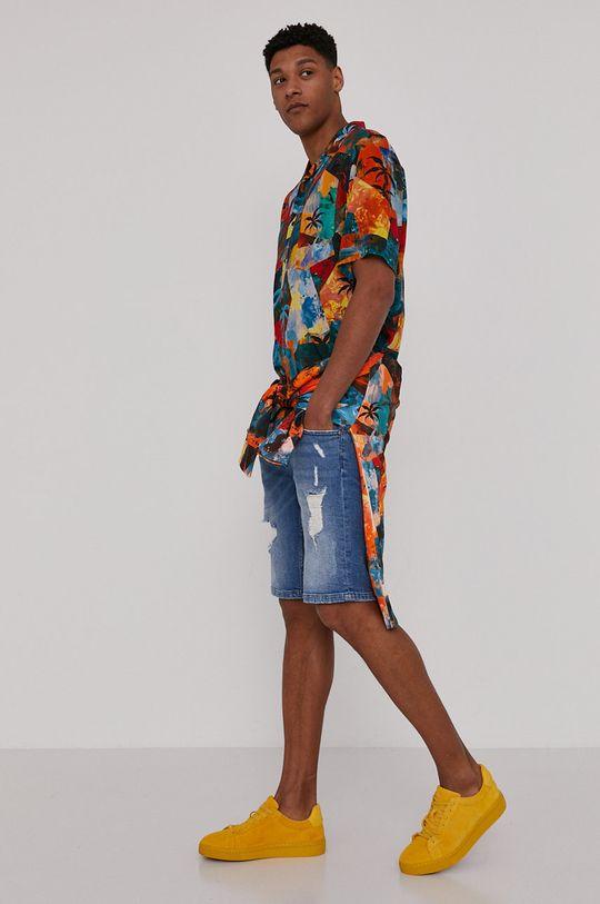 Medicine - Rifľové krátke nohavice Summer Vibes svetlomodrá