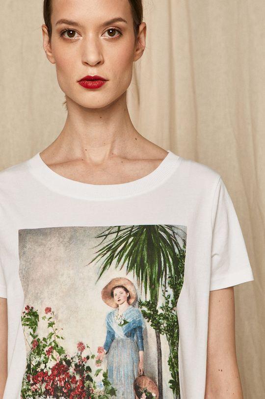 biały Medicine - T-shirt EVIVA L'ARTE Damski