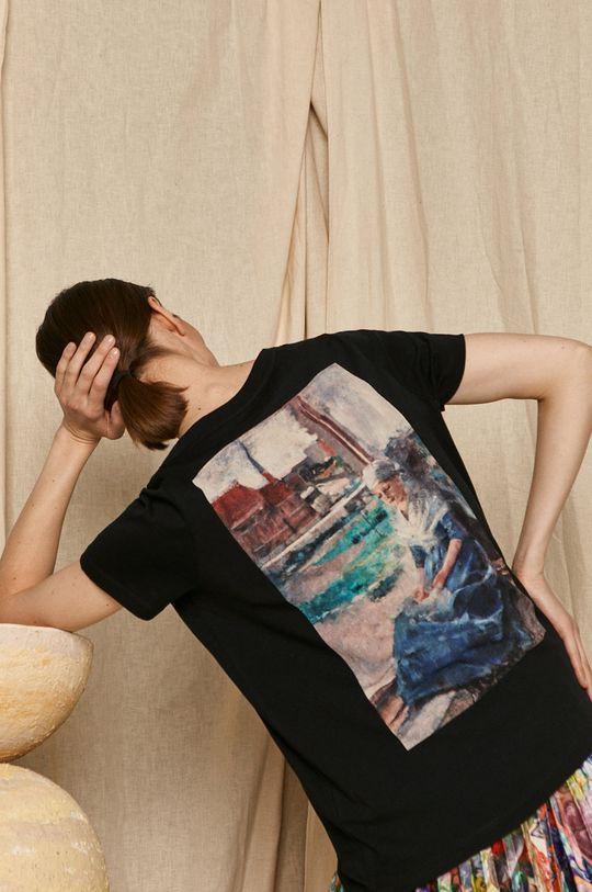 czarny Medicine - T-shirt EVIVA L'ARTE Damski