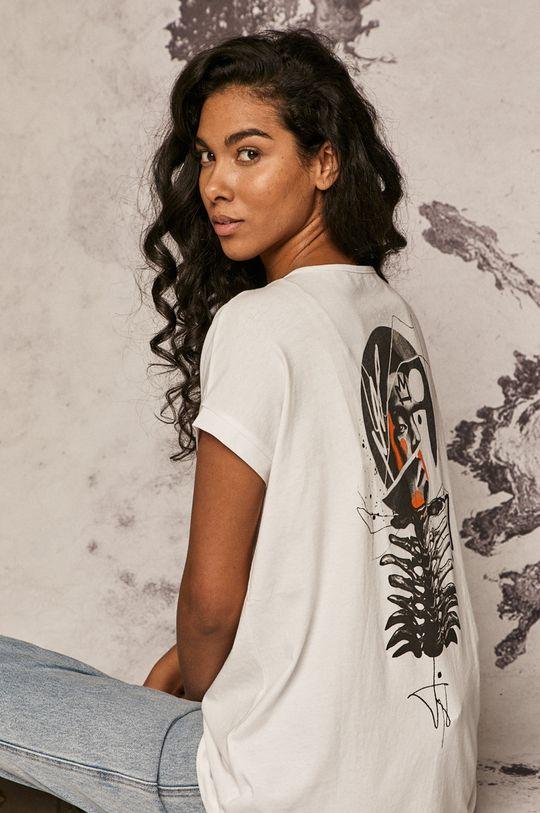 biały Medicine - T-shirt by Akvarko, Tattoo Art Damski
