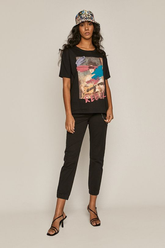 czarny Medicine - T-shirt Divine Love Damski