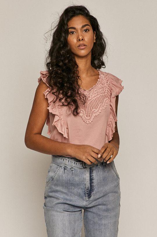 pastelowy różowy Medicine - Top Summer Linen Damski