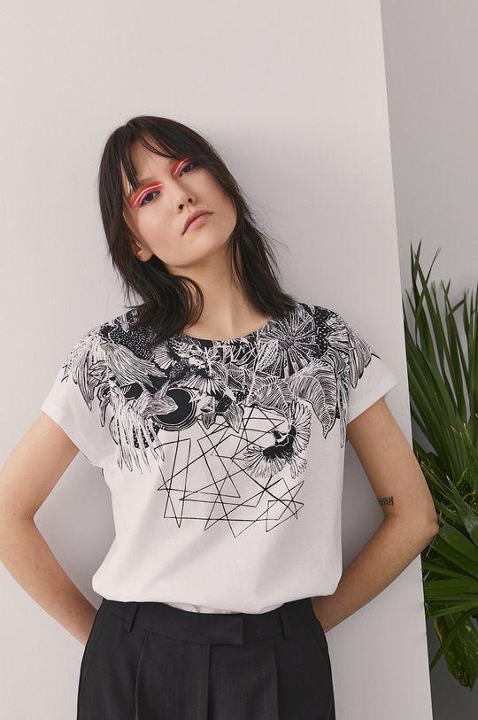 biały Medicine - T-shirt by Magdalena Parfieniuk Damski