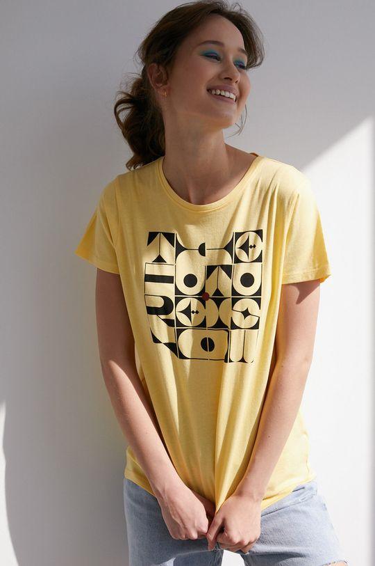 żółto - zielony Medicine - T-shirt by Bartek Bojarczuk Damski