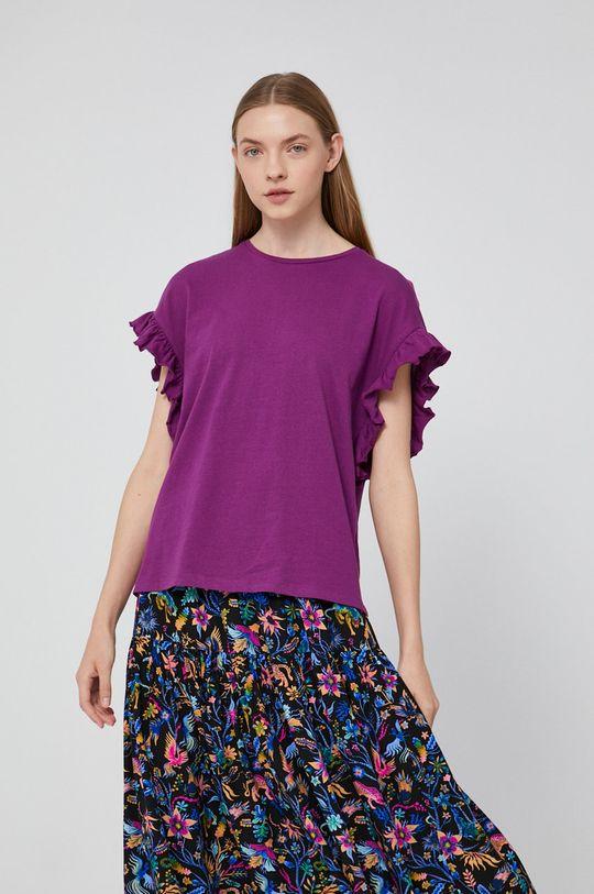 purpurowy Medicine - T-shirt Staycation