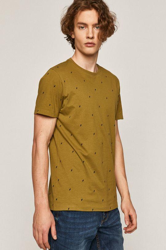 svetlá olivová Medicine - Tričko Basic Pánsky