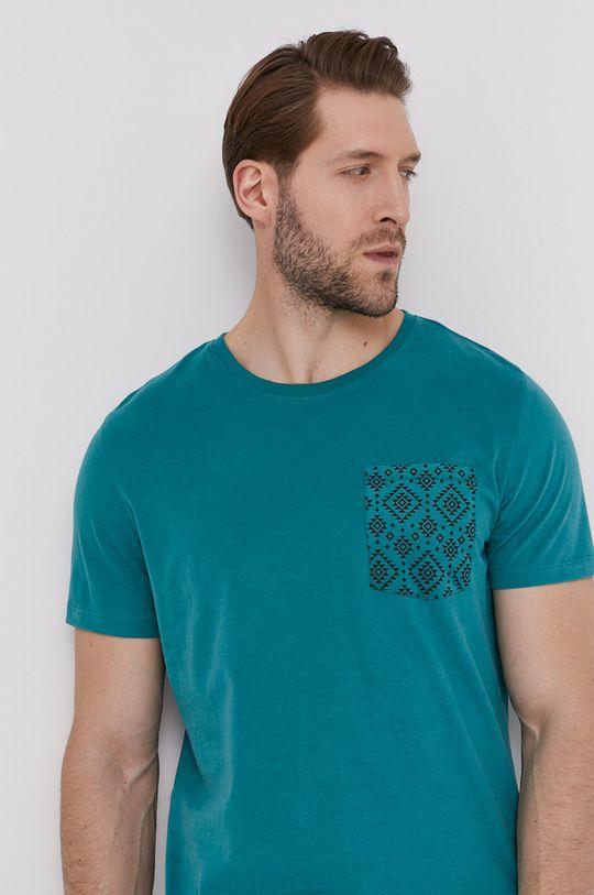 tyrkysová modrá Medicine - Tričko Basic Pánsky