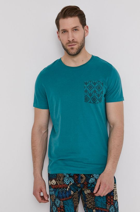 tyrkysová modrá Medicine - Tričko Basic