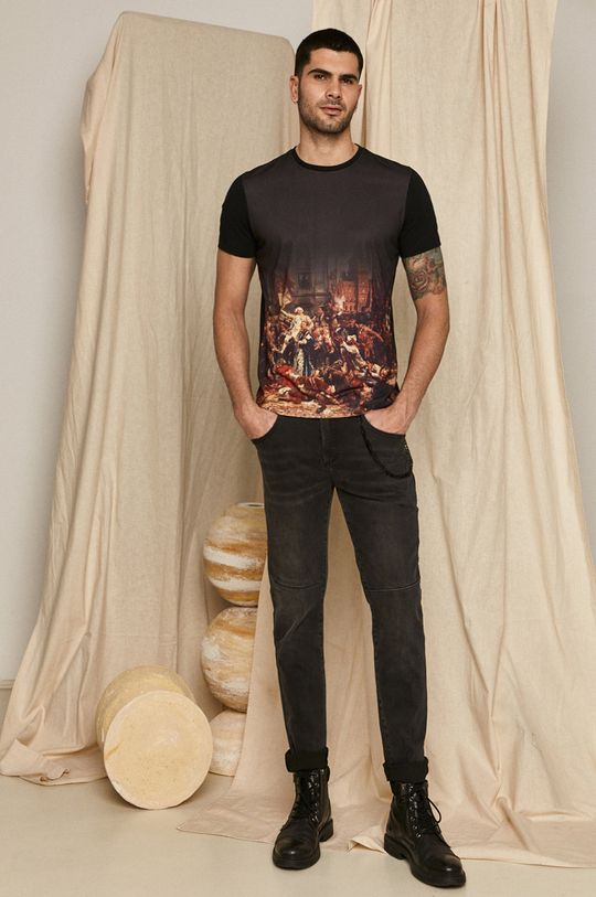 czarny Medicine - T-shirt EVIVA L'ARTE Męski